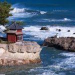 岡倉天心が設計した五浦海岸の「六角堂」はまさに風光明媚